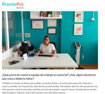 Leticia en la entrevista de ProntoPro