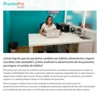 Andrea en la entrevista para ProntoPro